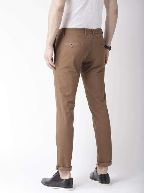 Coffee Casual Slim Fit Trouser back view