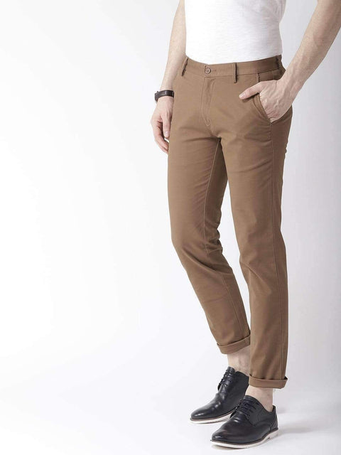 Coffee Casual Slim Fit Trouser full view