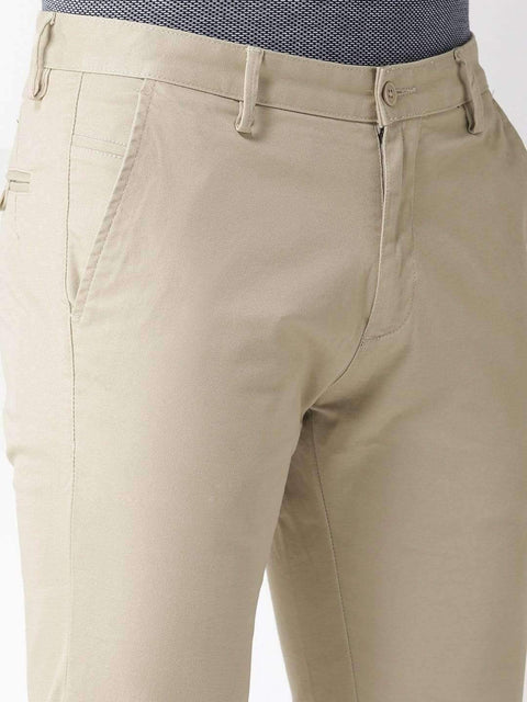 Richlook Fawn Casual Slim Fit Trouser