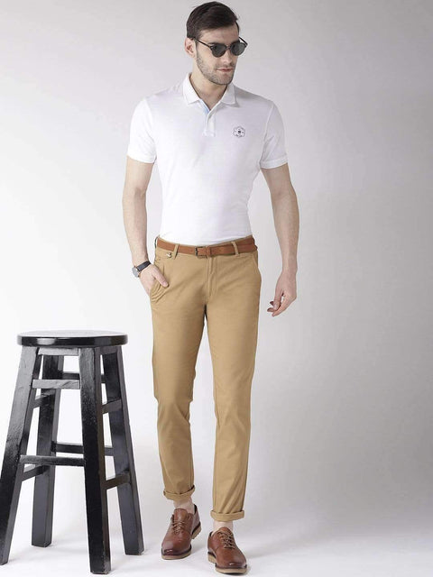 Khaki Casual Trouser for men