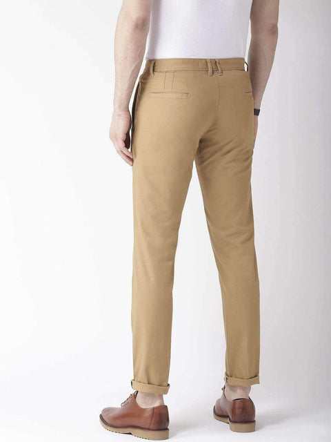 Khaki Casual Trouser back view