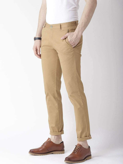 Khaki Casual Trouser side view
