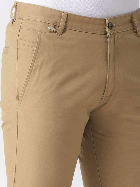 Khaki Casual Trouser close view