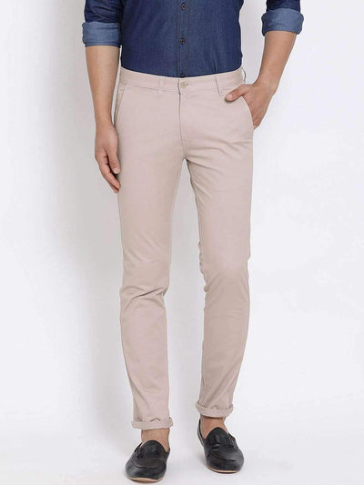 Light Khaki Slim Fit Trouser