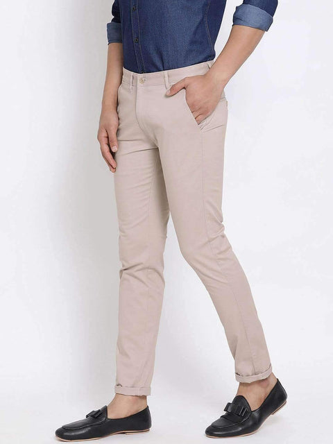 Light Khaki Slim Fit Trouser side view
