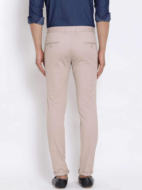 Light Khaki Slim Fit Trouser back view