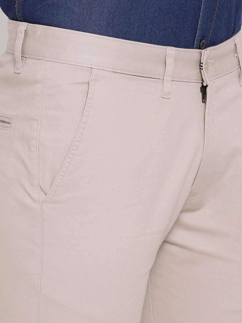 Light Khaki Slim Fit Trouser color