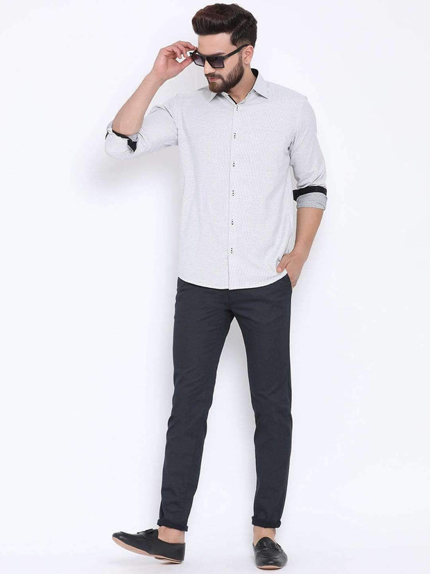 Richlook Navy Casual Slim Fit Trouser