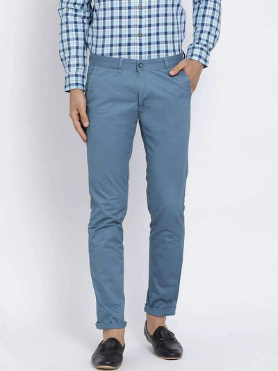 Richlook Casual Trouser Richlook Tapesty Blue Slim Fit Trouser