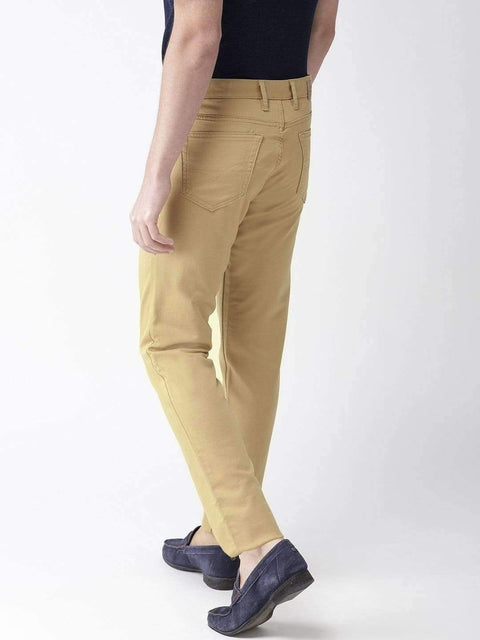 Turmeric Casual Slim Fit Trouser back view