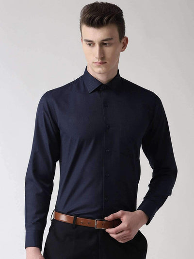 Richlook Club Wear Shirt Blue Slim Fit Checkered Club Wear Shirt