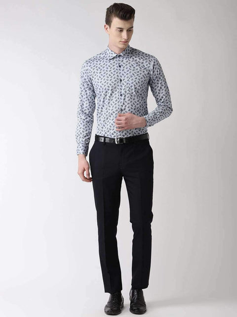 Light Grey Printed Club Wear Shirt full view