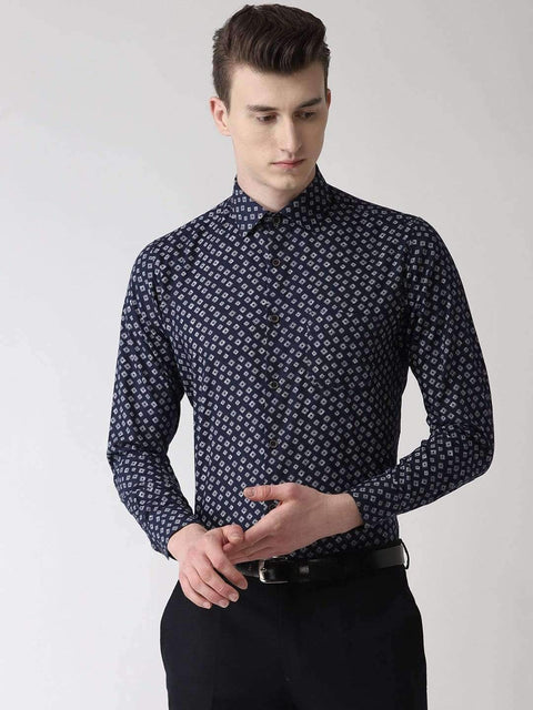 Navy Blue Club wear Shirt