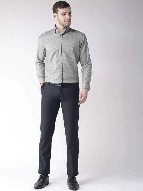 Richlook Black Regular Fit Club Wear Shirt