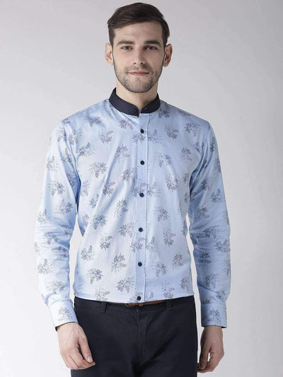 Richlook Blue Regular Fit Club Wear Shirt