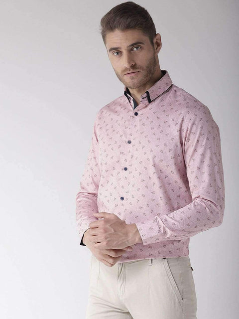 Richlook Club Wear Shirt Richlook Pink Regular Fit Club Wear Shirt