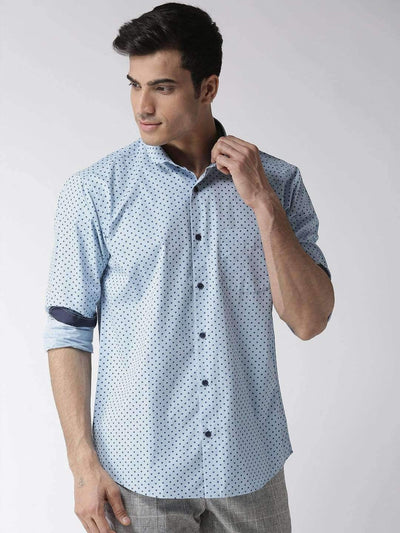Richlook Club Wear Shirt Richlook Sky Blue Regular Fit Club Wear Shirt