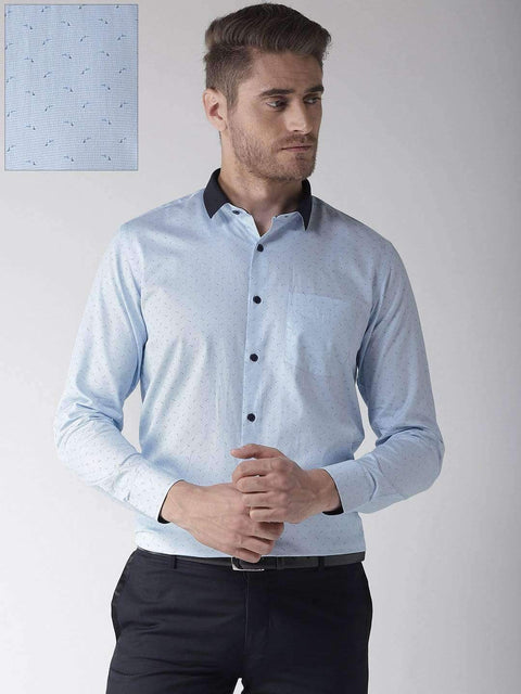 Richlook Club Wear Shirt Richlook Sky Regular Fit Club Wear Shirt