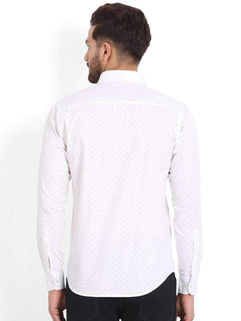 Richlook Club Wear Shirt Richlook White/Black Printed Club Wear Shirt