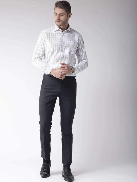 Richlook Club Wear Shirt Richlook White & Black Regular Fit Club Wear Shirt