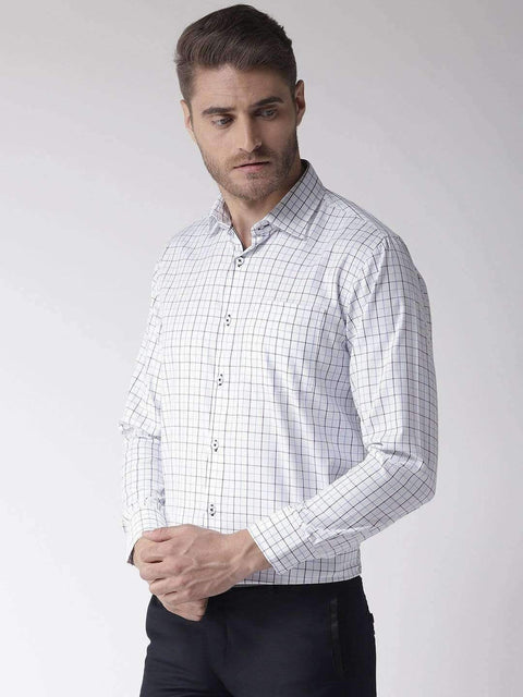 White & Blue Club Wear Shirt for men