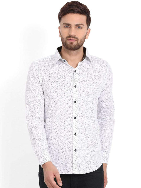 Richlook Club Wear Shirt Richlook White/Grey Printed Club Wear Shirt