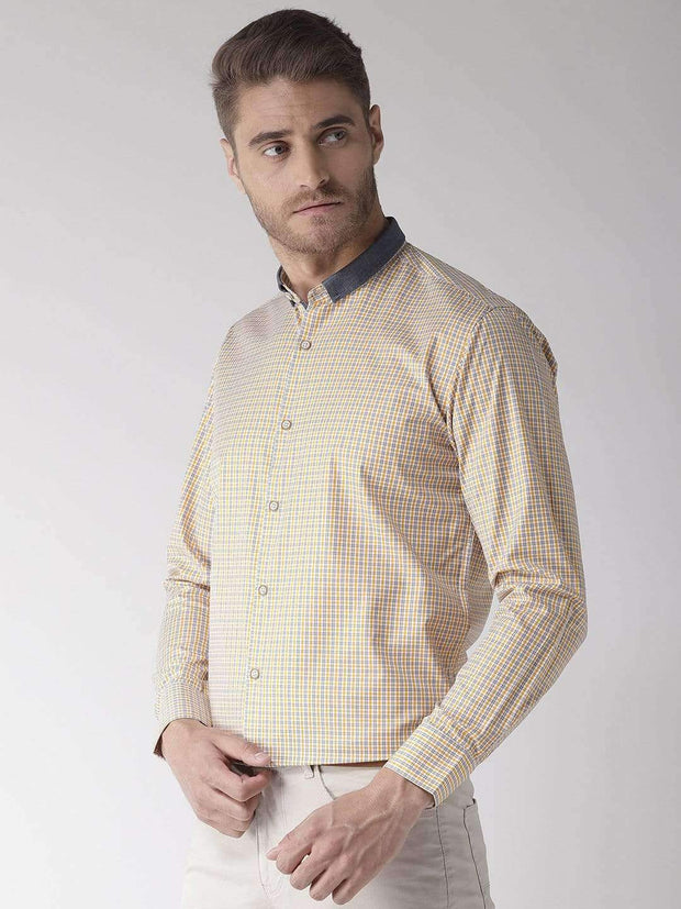 Richlook Club Wear Shirt Richlook Yellow Regular Fit Club Wear Shirt