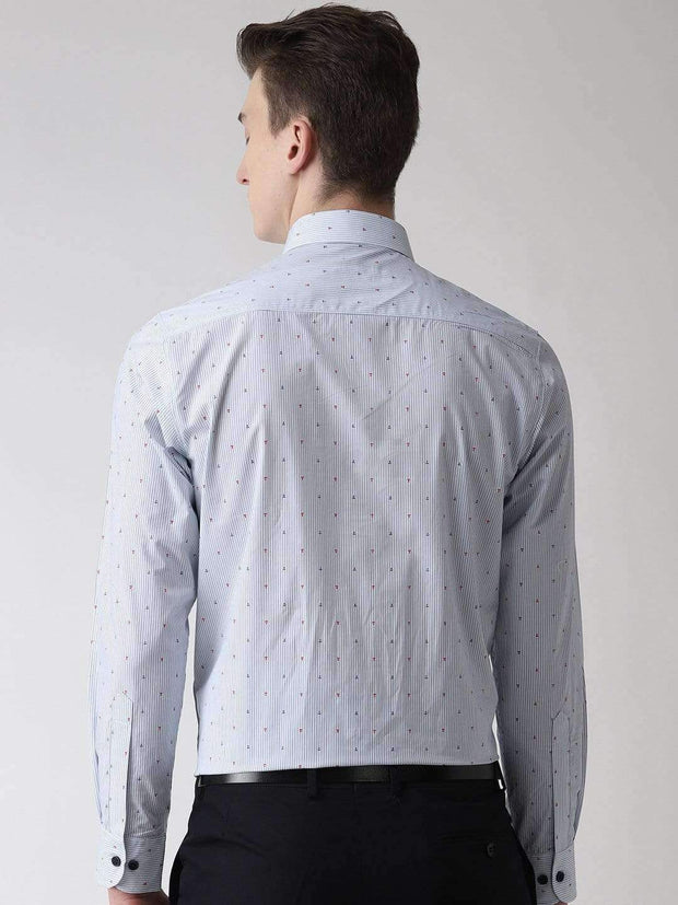 Sky Blue and Grey  Shirt back view
