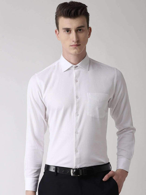 White solid Club Wear Shirt