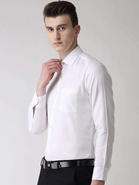 White solid Club Wear Shirt side view