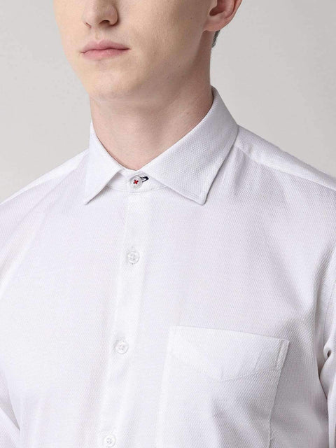 White solid Club Wear Shirt  for Men