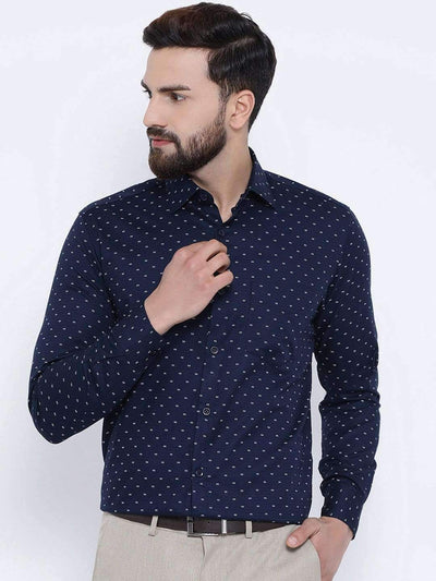 Richlook Navy Club Wear Regular Fit Shirt