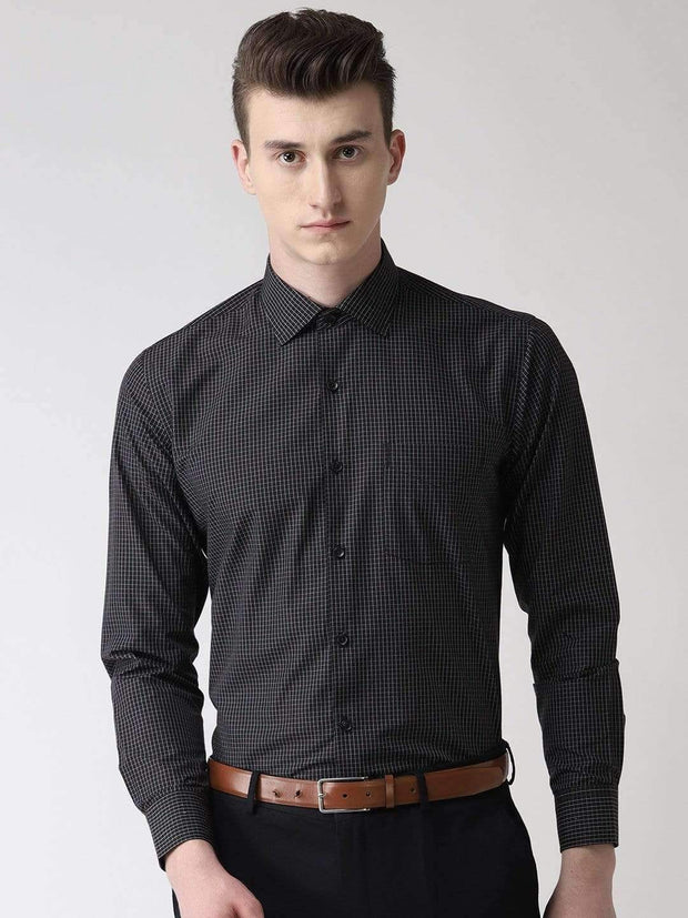 Black Checks Formal Shirt