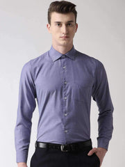 Blue Micro Checks Formal Shirt