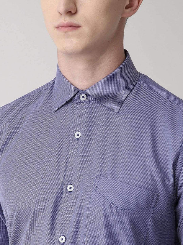 Blue Micro Checks Formal Shirt for Men