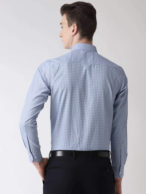 Blue Formal Shirt back view