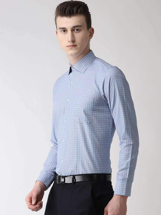 Blue Formal Shirt side view