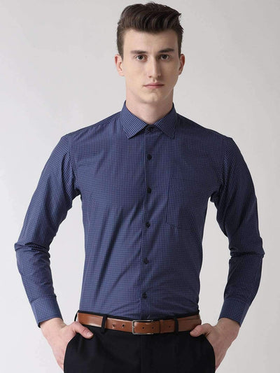 Blue Checkered Formal Shirt