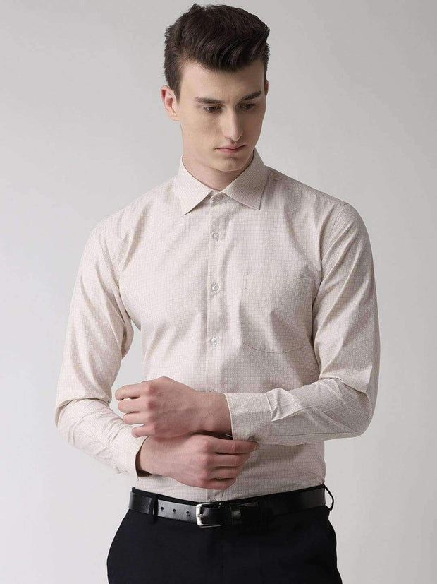 Cream Formal Shirt