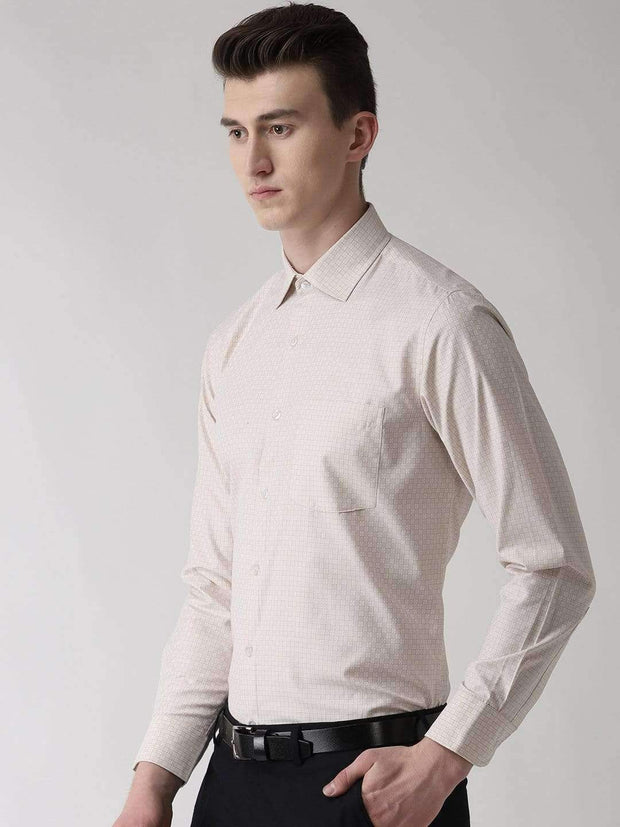 Cream Formal Shirt side view