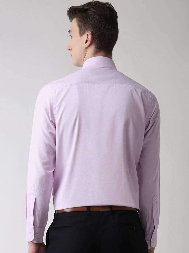 Light Purple Formal Shirt back view