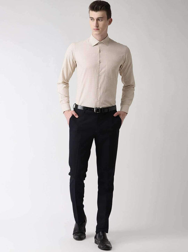 Pale Cream Formal Shirt Full view