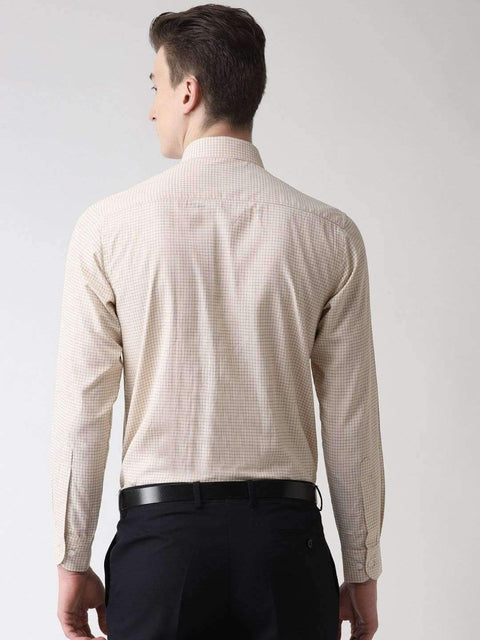 Pale Cream Formal Shirt back view