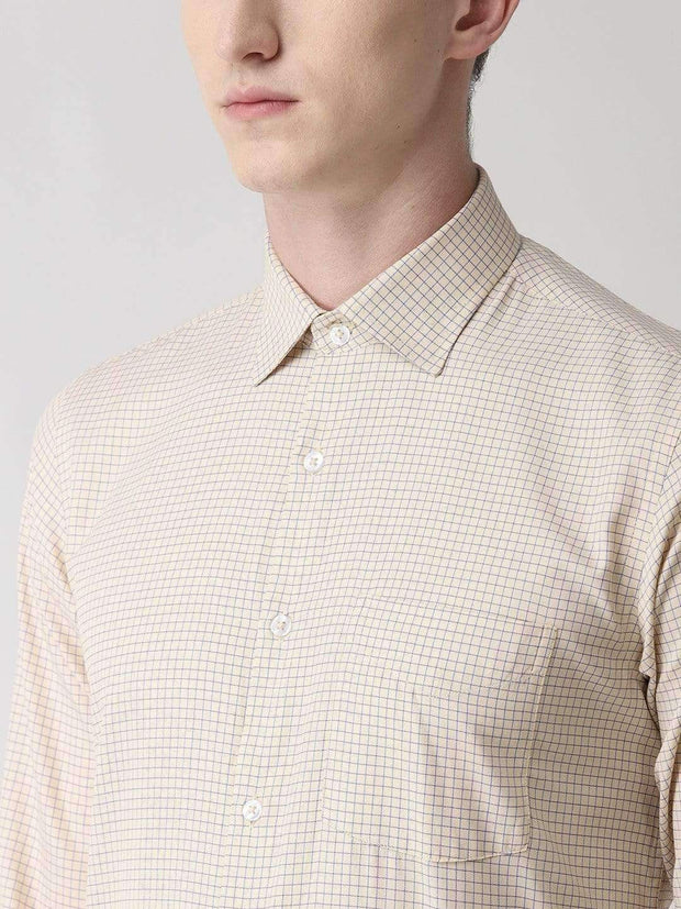 Pale Cream Formal Shirt for men