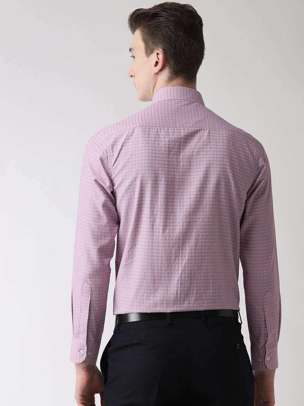 Pink Formal Shirt back view