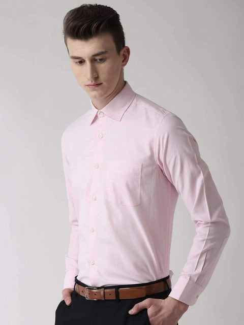 Pink Formal Shirt side view