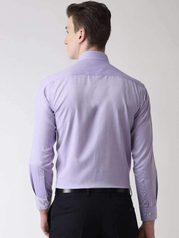 Purple Formal Shirt back view