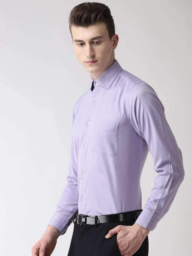 Purple Formal Shirt side view
