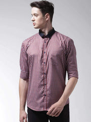 Red Regular Fit Formal Shirt