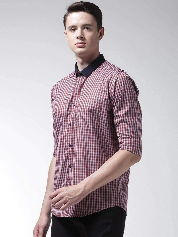 Red Regular Fit Formal Shirt side view